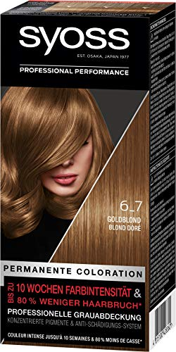 SYOSS Coloration, Haarfarbe 6_7 Goldblond Stufe 3, 3er Pack(3 x 115 ml)