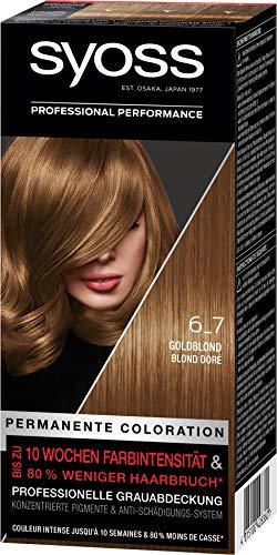 SYOSS Coloration 6_7 Goldblond Stufe 3, 3er Pack(3 x 115 ml)