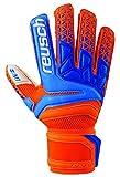 Reusch Soccer Prisma Prime M1 Finger Support Goalkeeper Gloves Orange/Blue, 10