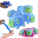 Squishy Stress Dog Toys Squeezable Gel Water Beads Filled - A Stretchy, Sticky, Gooey Texture, Sensory Fidget Ball Toy for Autistic, ADHD, Anxiety - Animal Party Favors for Adults and Kids (Blue)