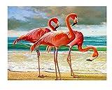 Flamingo 5D diamond painting art full diamond set, kit de punto de cruz decoración del hogar 40x50cm