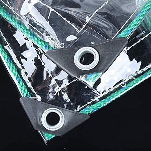 Lona Impermeable Transparente con Ojal,PVC Claro Resistente Al Agua A Prueba De Polvo Anti-envejecimiento Lona,para Coverup Plantas de Jardines, Invernaderos, Muebles de Terraza(1.8*2m(5.9*6.6ft))