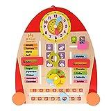 BaoYPP Juguete de Reloj de Madera Niños Calendario de Madera...