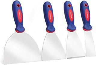 WORKPRO Putty Knife Set Stainless Steel Made 4-piece 1.5