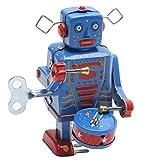 ECMQS Retro Clockwork Liquidation Métal Marche Robot Jouet Vintage Collection Enfants Cadeau