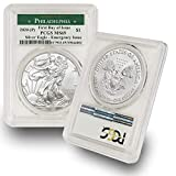 2020 Philadelphia Mint (P) Silver American Eagle MS-69 (First Day of Issue - Emergency Production) Green Label by CoinFolio $1 MS69 PCGS