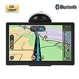 Garsent Navegador GPS, 7 Pulgadas Pantalla táctil capacitiva Bluetooth Truck Car Navegador GPS con ROM 8GB, 256MB RAM Dispositivo de navegación satelital para automóviles Mapa Gratuito 30 Idiomas.