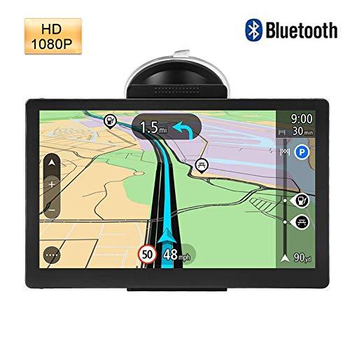 Navigatore GPS, navigatore Capacitivo a 5 Pollici GPS per Auto Bluetooth Touch Screen da 8 GB, 256 MB di RAM Navigatore satellitare per Auto Dispositivo Mappa 30 Lingue.