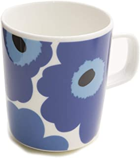 マリメッコ Marimekko マグカップ コップ 250ml 食器 UNIKKO ウニッコ ホワイト×ブルー 63431 017 [並行輸入品]
