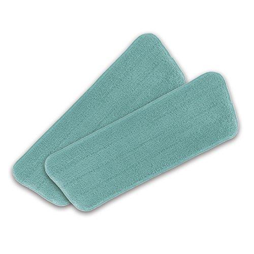 CLEANmaxx Ersatzwischtücher für Spray-Mopp Bodenwischer | 2 waschbare Mikrofasertücher