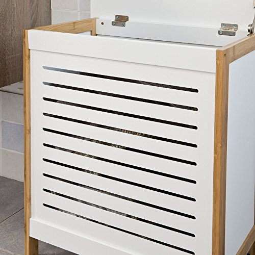 SoBuy® Wäschetruhe weiß+natur, FSS66-WN, 50x30x60cm - 6