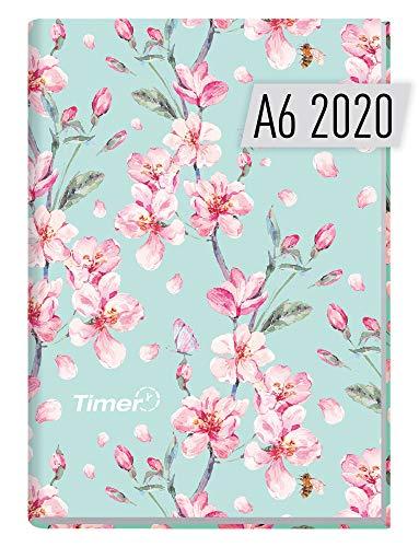 Chäff-Timer Mini A6 Kalender 2020 [Floral] Terminplaner 12 Monate: Jan bis Dez | Wochenkalender, Organizer, Terminkalender mit Wochenplaner - Top organisiert durchs Jahr!
