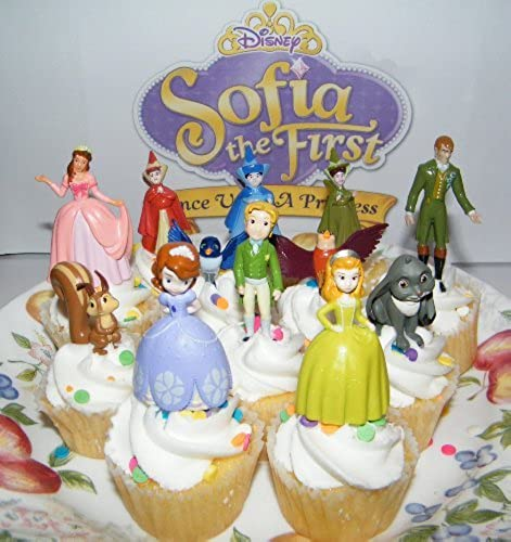 forma única Disney Princess Sophia the First Cake Toppers     Cupcake Party Favor Decorations Set of 12 includes the 3 Fairies, 4 Animal Friends, King and Queen and More  by Princess Sophia  ¡No dudes! ¡Compra ahora!