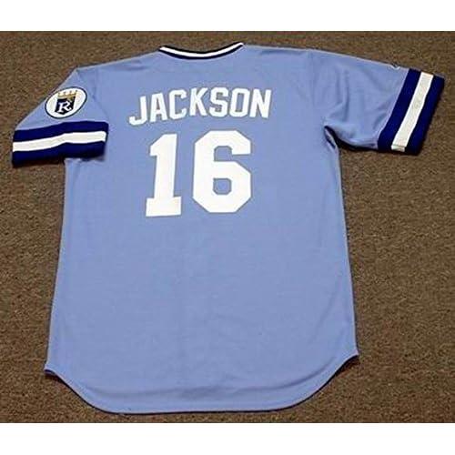 eb086426 BO JACKSON Kansas City Royals 1989 Majestic Cooperstown Throwback Away  Baseball Jersey