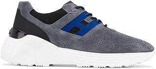 Luxury Fashion   Hogan Men HXM4430BR10NL950CO Grey Leather Sneakers   Spring-summer 20