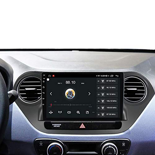 Car Stereo Sat Nav Suitable for Hyundai I10 2014-2017 LHD Radio GPS Navigation Capacitive Touch HD Carplay Radio Multimedia Built-in Radio System Tracker,4Core 4G+WiFi:1+16G