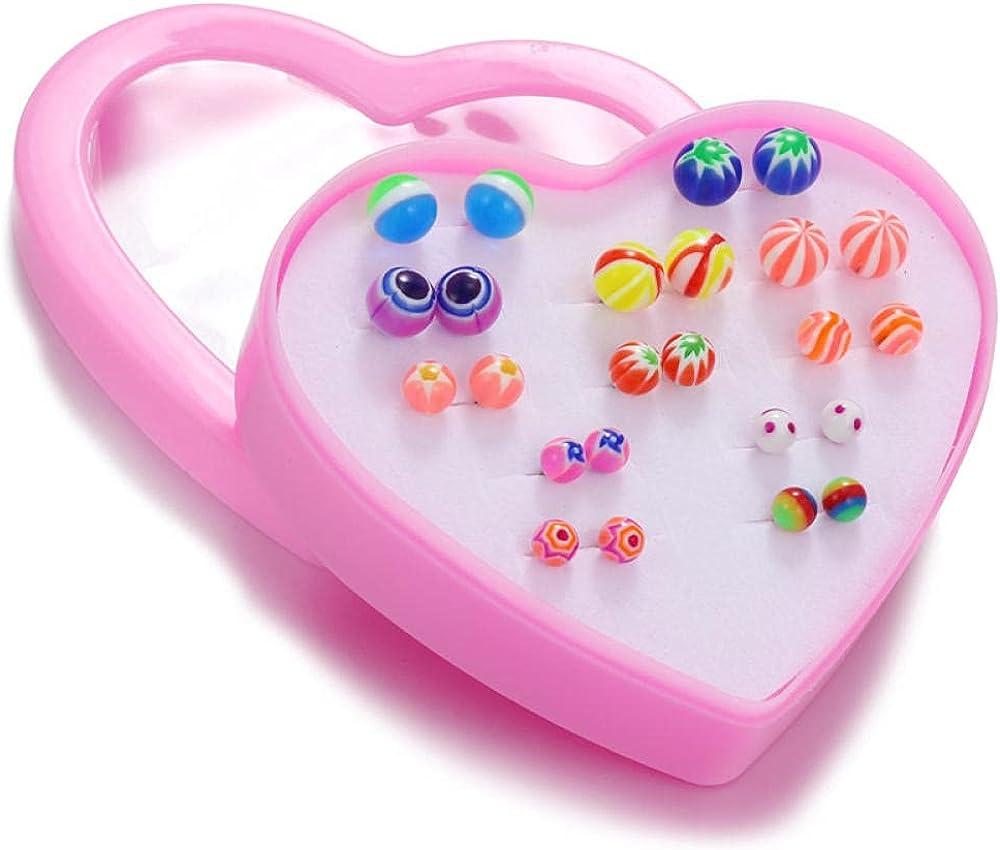 Cuff Earrings12 Pair Of Love Box Suit Fashion Children Earrings Earrings Female