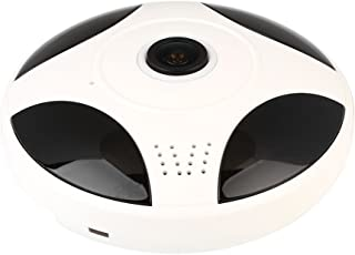 Rosepoem 360度パノラマセキュリティWebcam監視カメラ、ミニカメラHdサポートSdカード携帯電話リモート監視ホームセキュリティ