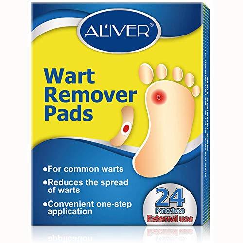 Almohadillas para eliminar verrugas y callos, para eliminar los pies, con agujero, parches para eliminar callos y callos, kit de cuidado de pies, juegos de pedicura para pies (24 unidades)