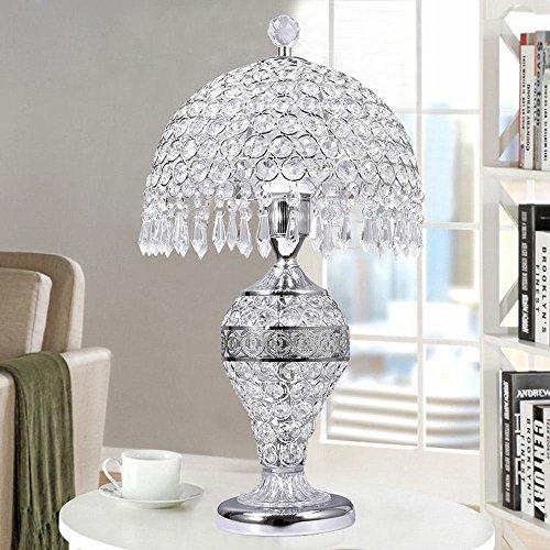 Tafellamp Europese tafellamp van kristal bedlampje slaapkamer woonkamer bruiloft luxe Amerika creatief romantische tafellamp schudden zilveren knop YLXB