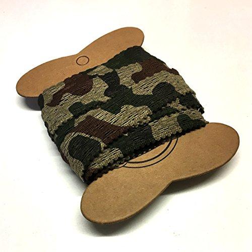 5 meter van 17mm platte kanten camouflage elastiek voor knickers, hoofdbanden en meer