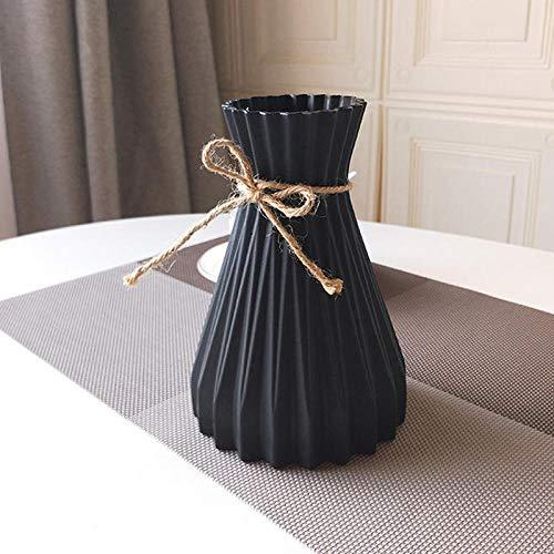 Vase Plastikvasen Home Decoration Vasen Hochzeitsdekorationen Rattan-Ähnliche Unzerbrechliche Vase Für Hydroponic Plants-Black