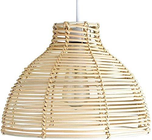 DLXYch Cesta de mimbre sepak takraw globo globo araña araña dormitorio cafetería restaurante oficina lámpara lámpara lámpara lámpara lámpara araña negro beige