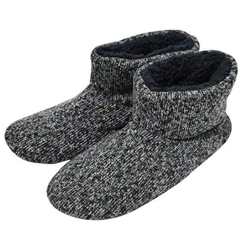 COFACE Stivaletti per Pantofole con Stivaletti Imbottiti e Antiscivolo per Uomo