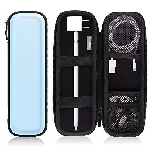 MoKo Holder Case Fit i-Pencil/i-Pencil 2, PU Leather Case for Samsung Stylus Pen Surface Pen, Fit New iPad 10.2 2019/iPad Air (3rd Gen) 10.5'/iPad Pro 11 & 12.9 2020 Pencil - Sky Blue