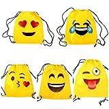 Lote de 20 Mochilas Petate Emoticonos - Mochilas Escolares, Merienda, Infantiles, Infantil para niños y niñas....