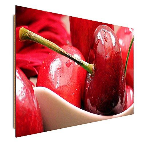 Feeby. Tableau - 1 Partie - 70x100 cm, Décoration Murale Image Imprimée Deco Panel, Cerise, CULINAIRE, Rouge