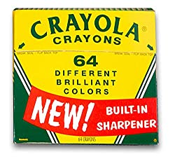 The 60th Anniversary 64 Count Crayon kit hearkens back to our seniors' childhoods.