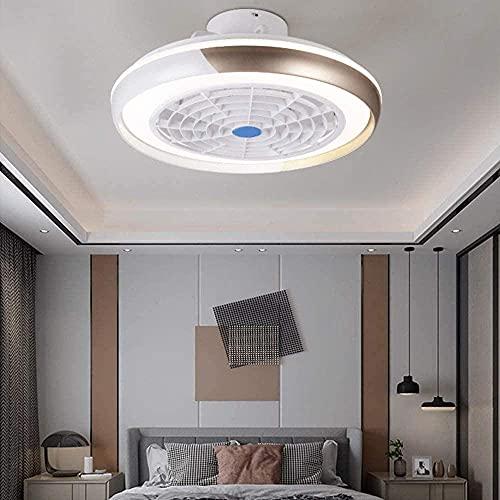 SXLCKJ Ventiladores de Techo silenciosos con Luces LED y Control Remoto Luz de Techo Moderna con Ventiladores y 3 Cambios de Color Ventilador de 3 velocidades L (luz del Ventilador)