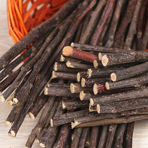Hearsbeauty natur Holz Kauen Sticks Zweige für kleine Haustiere Kaninchen Hamster Meerschweinchen Spielzeug - 6