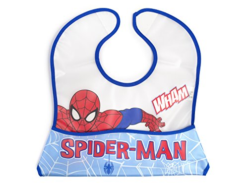 Lulabi Marvel Spiderman Bavaglino, Plastica, 31x23 cm, 0+ mesi, Blu