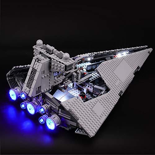 BRIKSMAX Kit di Illuminazione a LED per Lego Star Wars Imperial Star Destroyer, Compatibile con Il Modello Lego 75055 Mattoncini da Costruzioni - Non Include Il Set Lego