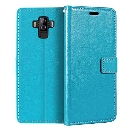 Bluboo S3 - Funda tipo cartera para Bluboo S3 (piel sintética, cierre...