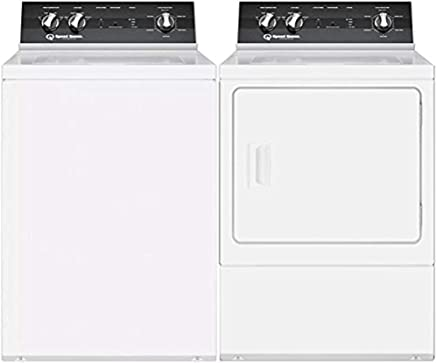 Washers Speed Queen Top Load LWNE22SP115TW01 26 Washer with Front Load LDEE7RWS173TW01 24 Electric Dryer Commercial Laundry Pair in White Washers & Dryers