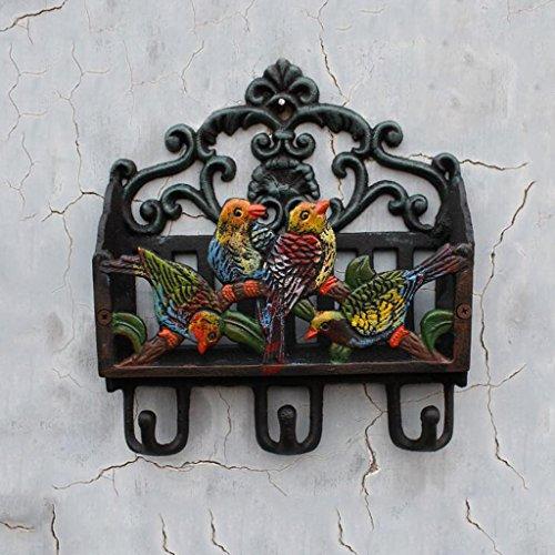TLMY gietijzer vier vogel letter tijdschrift voegt puin opslag ijzer haak tuin decoratie mailbox