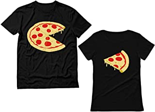 The Missing Piece Pizza & Slice - His and Her Shirts - Matching Couple T-Shirts