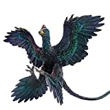 PNSO Microraptor Figure Realistic Dromaeosauridae Dinosaur PVC Collector Toys Animal Educational Model Decoration Gift for Adult