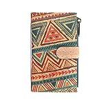 Cartera de Mujer con Monedero, Billetera de Mujer con Cremallera, Original de Corcho ecológico Portugués de diseño. (D1612214)