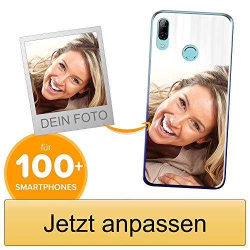 Coverpersonalizzate.it Handyhülle für Huawei P Smart 2019 mit Foto-, Bildern- oder Text selbst gestalten- Die Handyhülle ist aus weichem transparentem TPU-Silikon-Gel Material