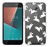 Sunrive Für Vodafone Smart N8 Hülle Silikon, Transparent Handyhülle Schutzhülle Etui Hülle Backcover für Vodafone Smart N8(TPU Einhorn 2)+Gratis Universal Eingabestift