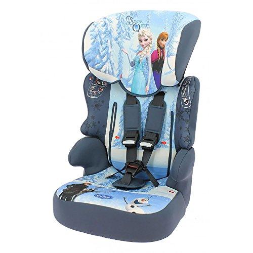 mycarsit Autositz und Sitzerhöhung, Gruppe 1/2/3(von 9bis 36kg), Motiv Frozen Eiskönigin