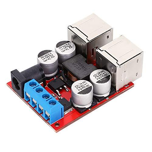 Módulo reductor de energía, módulo convertidor CC-CC, protección contra sobrevoltaje 4 Cargador de teléfono USB Tubo Mos para cámara digital tableta