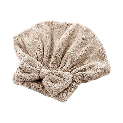 cappello q4 Siera Cartoon Microfiber Hair Turban Capelli ad Asciugatura Rapida Cappello Avvolto Asciugamano Cuffia da Bagno Cappello in Microfibra Felpa maquillaje Butterfly Bow Q4