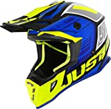Just 1 Helmets Just1 J38 - Casco para moto (talla XL), color azul y blanco M Blue-Fluo Yellow-Gloss Black