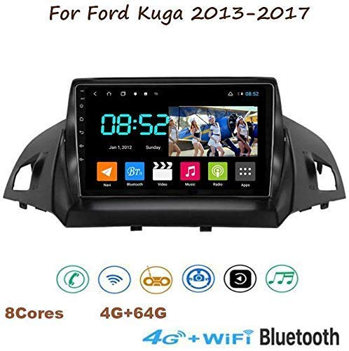 Android 8.1 GPS-Navigations-Radio, für Ford Kuga 2013-2017 Multimedia Player Spiegel Link-Lenkrad-Steuerung Bluetooth Hand-frei Anruf Navi dsp