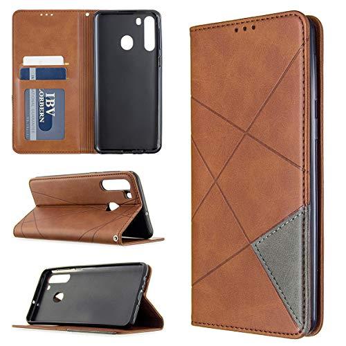 SHUYIT Handyhülle für Samsung Galaxy A21 Hülle Leder, Premium PU Leder Tasche Klapphülle Brieftasche Ständer Kartenfach Magnetisch Flip Case Cover Schutzhülle für Samsung Galaxy A21 Handy Hüllen